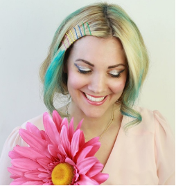 Fashion Rainbow Updo
