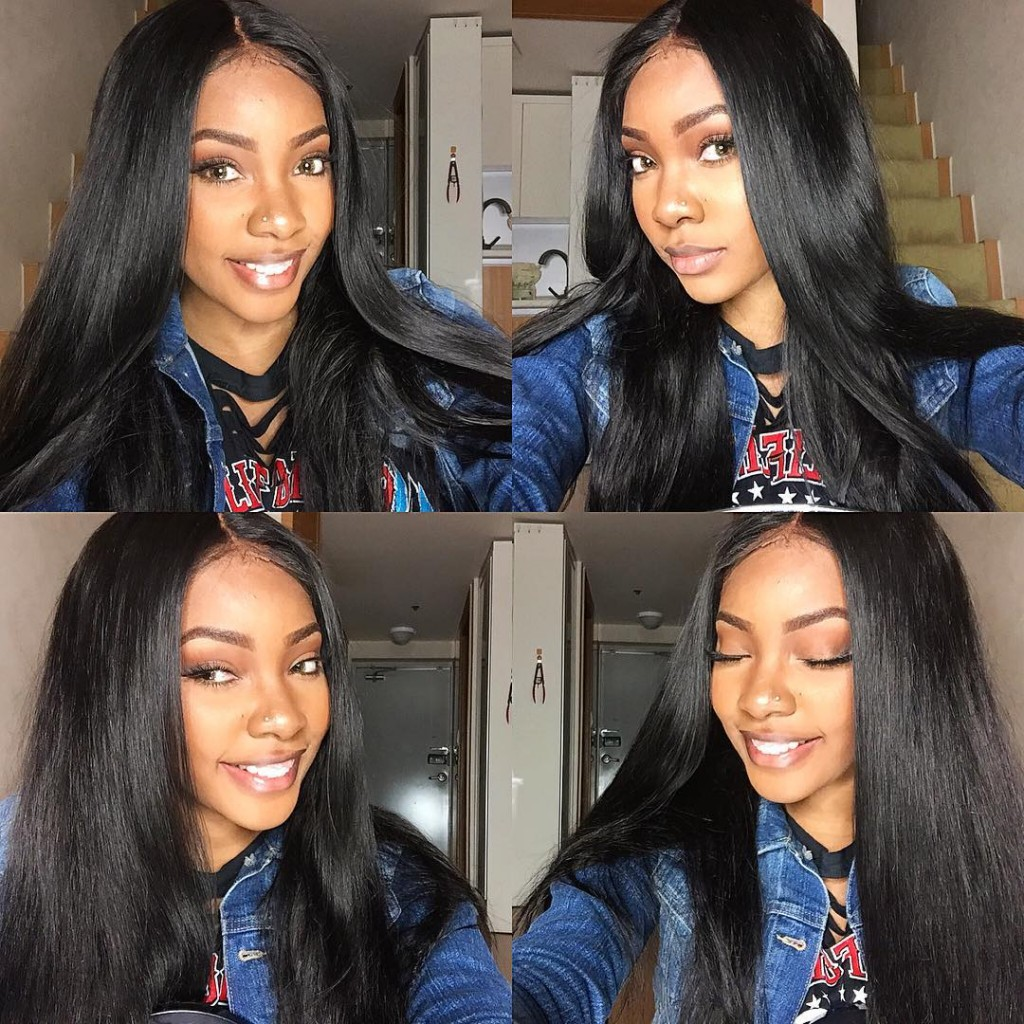 Silky Straight Remy Human Hair Lace Wig 01